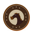 horse character wild west icon vector image