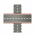 Multilevel road intersection of freeways icon vector image