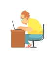 Programmer Working From Home Funny Character vector image