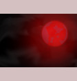 red moon on night sky vector image