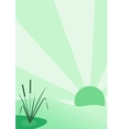 Reeds and sun vector image