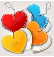 Set of bubbles stickers labels tags Shape of vector image