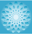 abstract snowflake vector image vector image