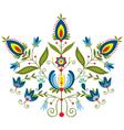 polish folk with ornamental floral vector image