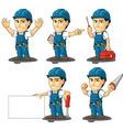 Technician or Repairman Mascot 2 vector image vector image