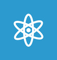 atom icon white on the blue background vector image