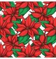 seamless poistella pattern vector image