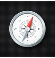 Compass icon on black textured background vector image