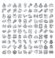 Doodle toys icons set vector image