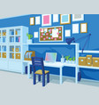 home office interior of workplace perspective vector image