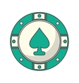Isolated chip of casino design vector image