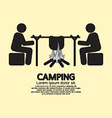 People With Campfire Camping Symbol vector image