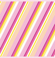 Pink and yellow stripe classic motif vector image