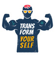 poster with bodybuilder for fitness motivation vector image