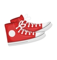 Red gumshoes icon in cartoon style isolated on vector image