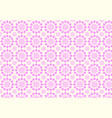 vintage modern pink flower pattern on pastel color vector image