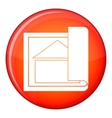 Building plan icon flat style vector image