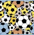 footballs seamless tile vector image
