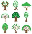 logo icons tree vector image vector image