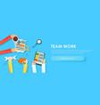 team work banner vector image