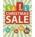Christmas sale design with shopping bag vector image