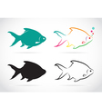 group of fish vector image vector image