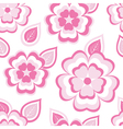 Texture seamless pattern with sakura and leaf vector image vector image