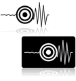Earthquake icon vector image vector image
