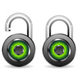 round padlocks vector image vector image