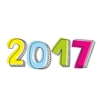 New Year 2017 sign isolated on white vector image vector image