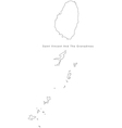 Black White Saint Vincent and The Grenadines Outli vector image vector image