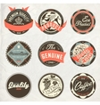 Vintage design retro labels vector image