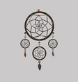 boho with dream catcher vector image