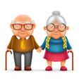 cute smile happy elderly couple old man love woman vector image