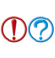 exclamation point and a question mark vector image