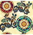 floral seamless paisley ethnic background vector image