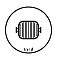 Grill pan icon vector image