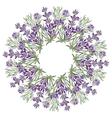 Hand drawing lavender floral mandala zentangle vector image