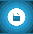isolated door flat icon automobile part vector image