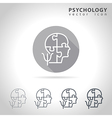 Psychology outline icon vector image