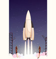 rocket missile takeoff composition vector image