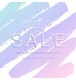 sale banner design paint stroke background vector image