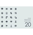 Set of productivity improvement icons vector image