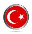 Turkey flag button vector image