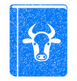 cow book icon grunge watermark vector image