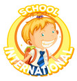 logo design for international school vector image