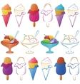 Ice cream set vector image vector image