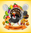 Happy Thanksgiving Turkey vector image