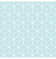 stripe cube pattern background blue green vector image vector image