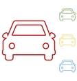 Car Set of line icons vector image
